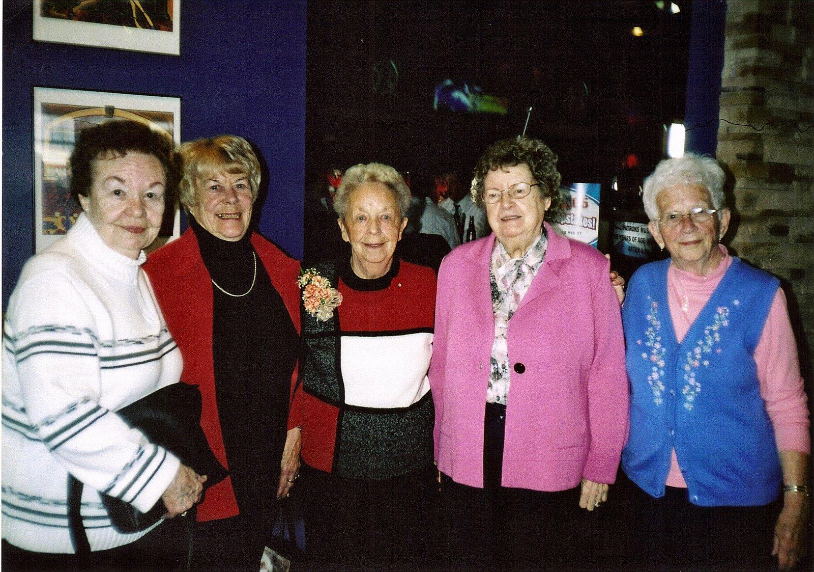 Betty Roscoe on left