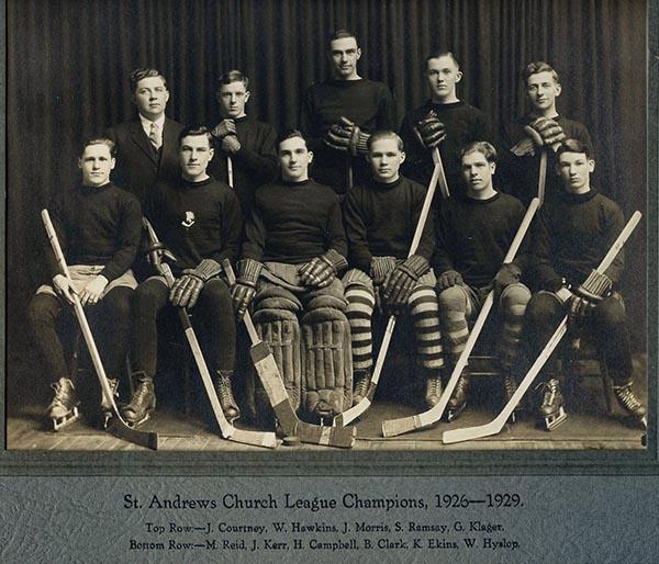 Gord Klager. St. Andrews Hockey Team