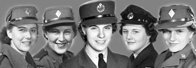 We are so proud of the ladies: Agnes Stoddart, Elsie Highton, Annie Stoddart, Jean Finch, Ruth Zvaniga. January 1943
