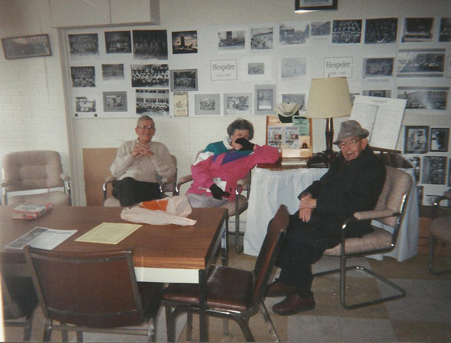 Bill O'Krafka, Unknown person, Gord Klager at The Company of Neighbours office